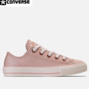 Converse ox leather blush pink rose gold